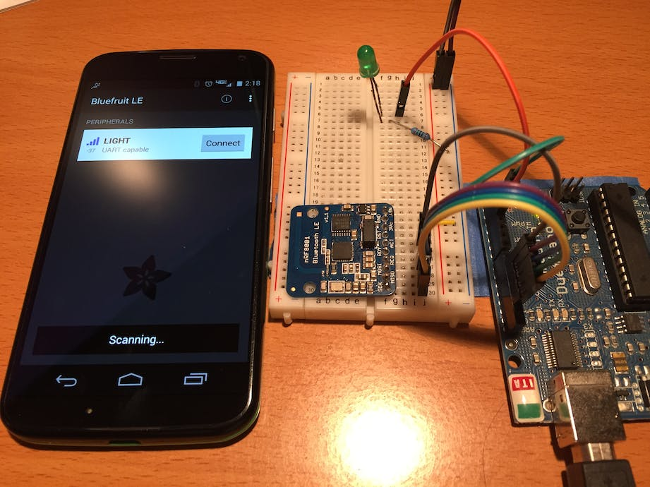 Adding Bluetooth to Your Arduino (+Light Sensor) - Hackster io