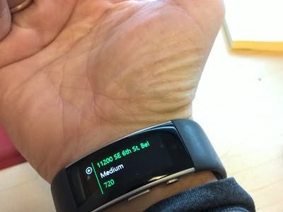 Traffic Tile for Microsoft Band 2
