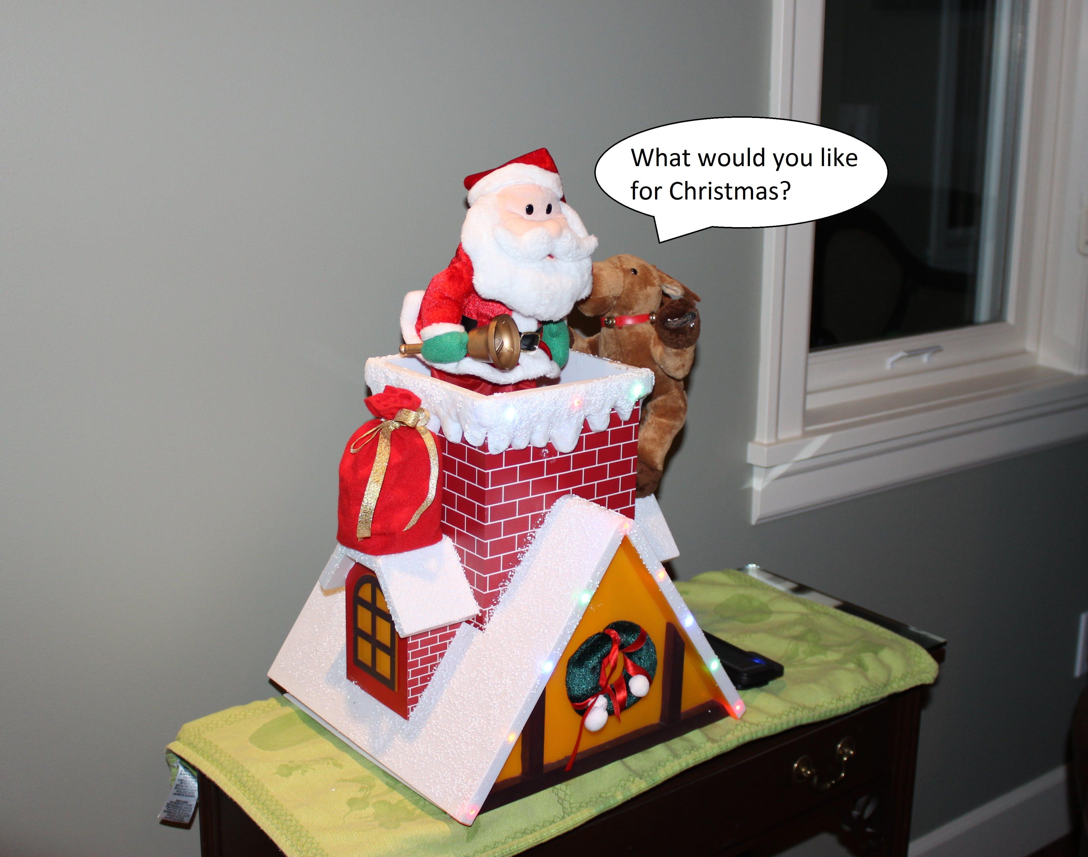 Listening Santa