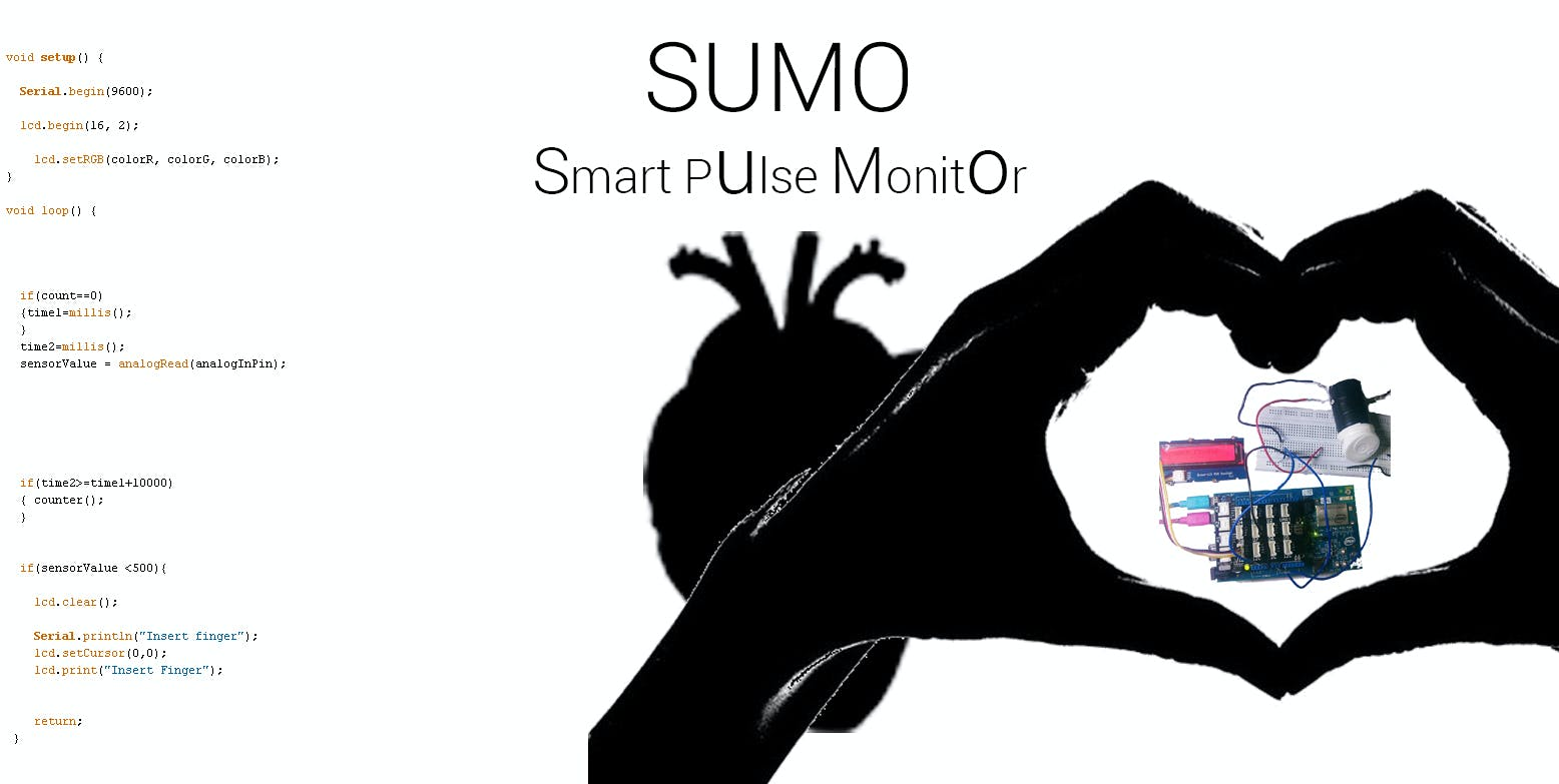 SUMO : Smart Pulse Monitor ( A Low Cost Smart ECG )