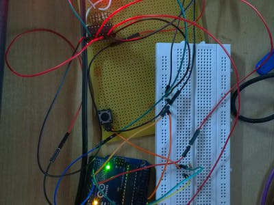 Arduino Uno Interrupt Demo with 7-Segment Display