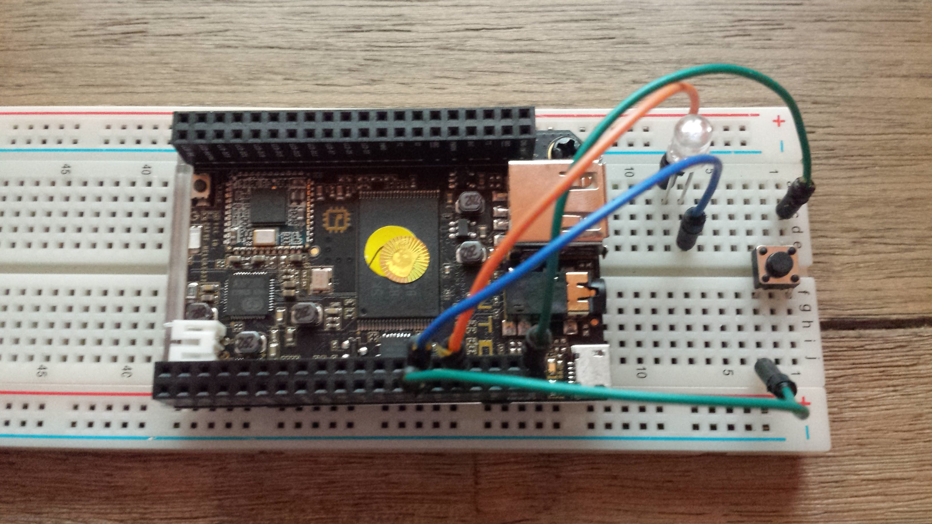 Controlling an LED with CHIP and BASH