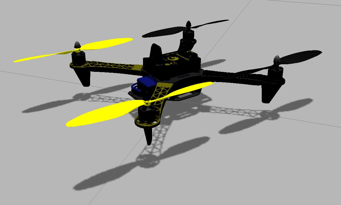 Simulate Erle-Copter DIY in Gazebo