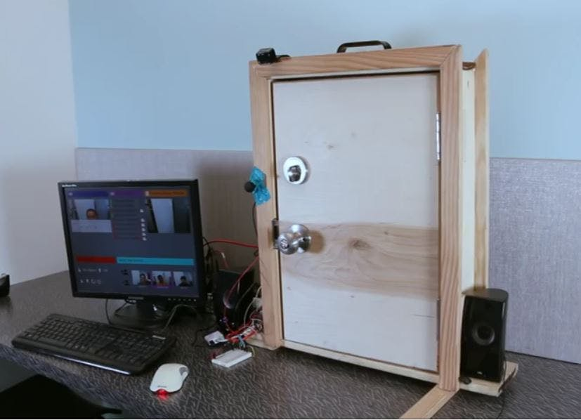 Image result for face recognition door