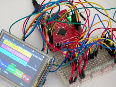 GUI Implementation with Screen, Touch and SRAM