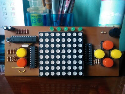 Arduino Dot Matrix Game Console