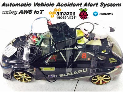 Automatic Vehicle Accident Alert System using AWS IoT