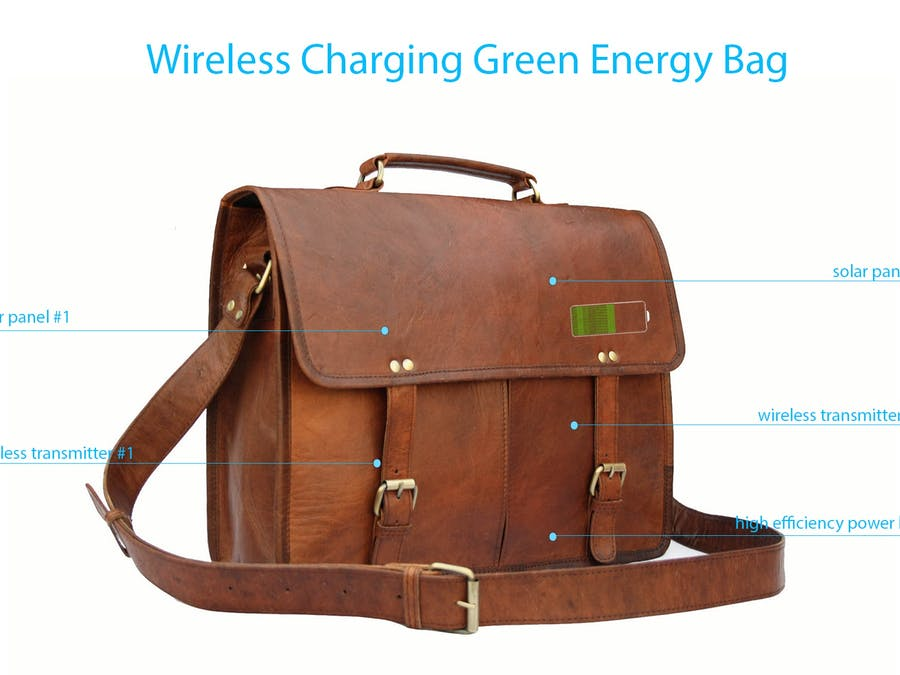 Wireless Charging Devices in Green Energy Bag