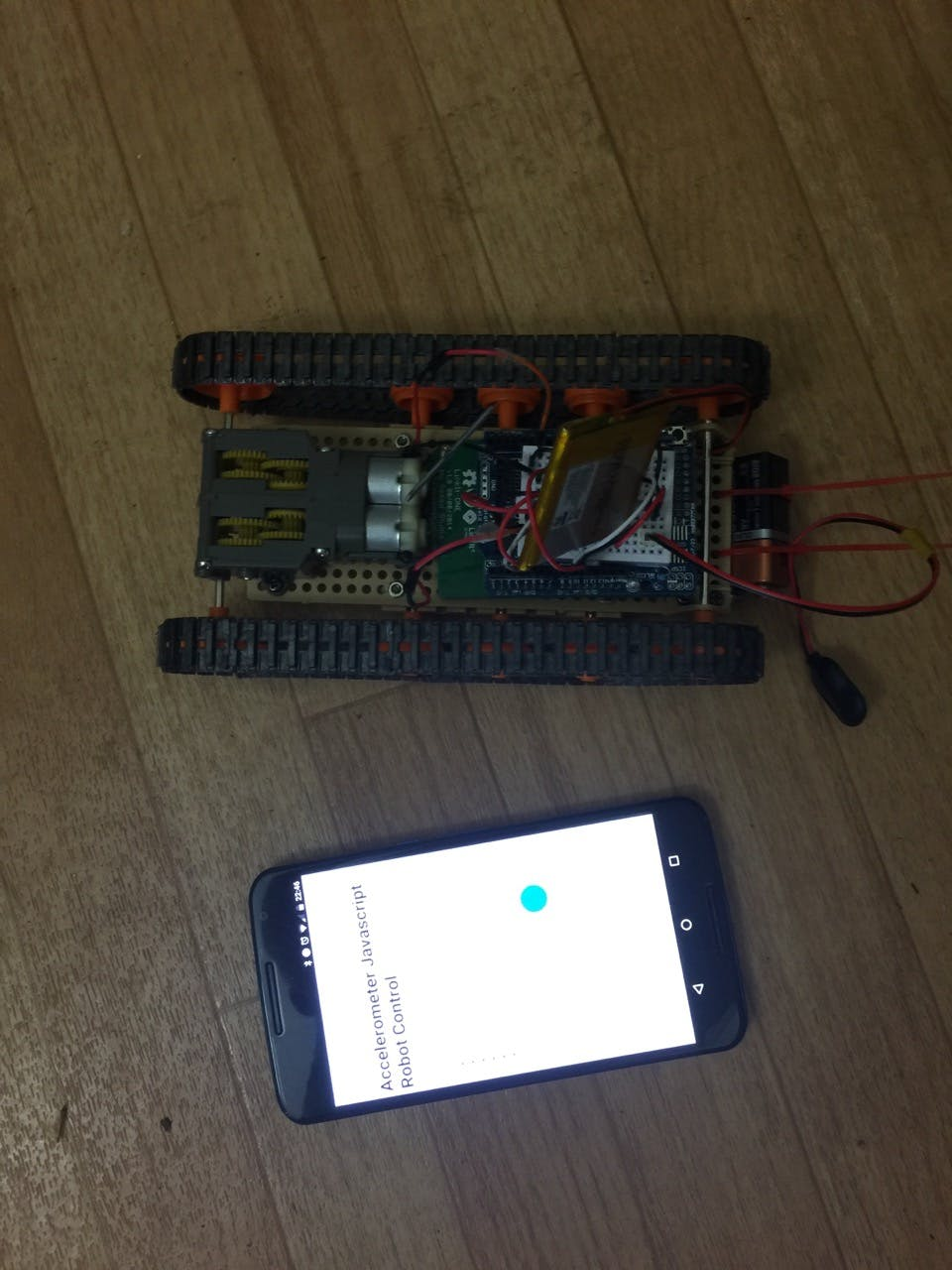 Robot Controlled using HTML5/JavaScript and BeagleBone Green