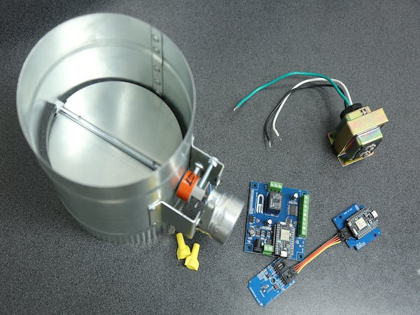 Smart Thermostat Controlled Hvac Duct Damper Hackster Io