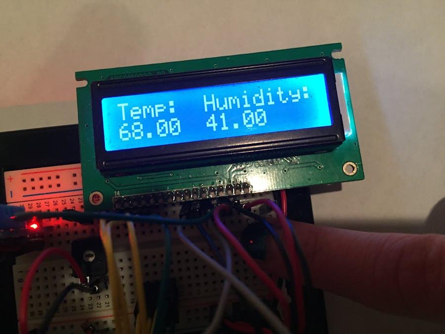 Portable Arduino Temp/Humidity Sensor with LCD - Arduino Project Hub