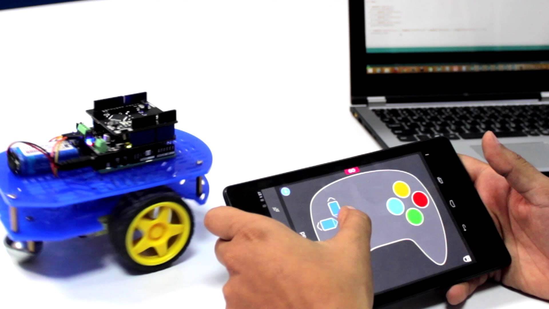 Super Easy to Build 1Sheeld 2 Wheel Drive Robot