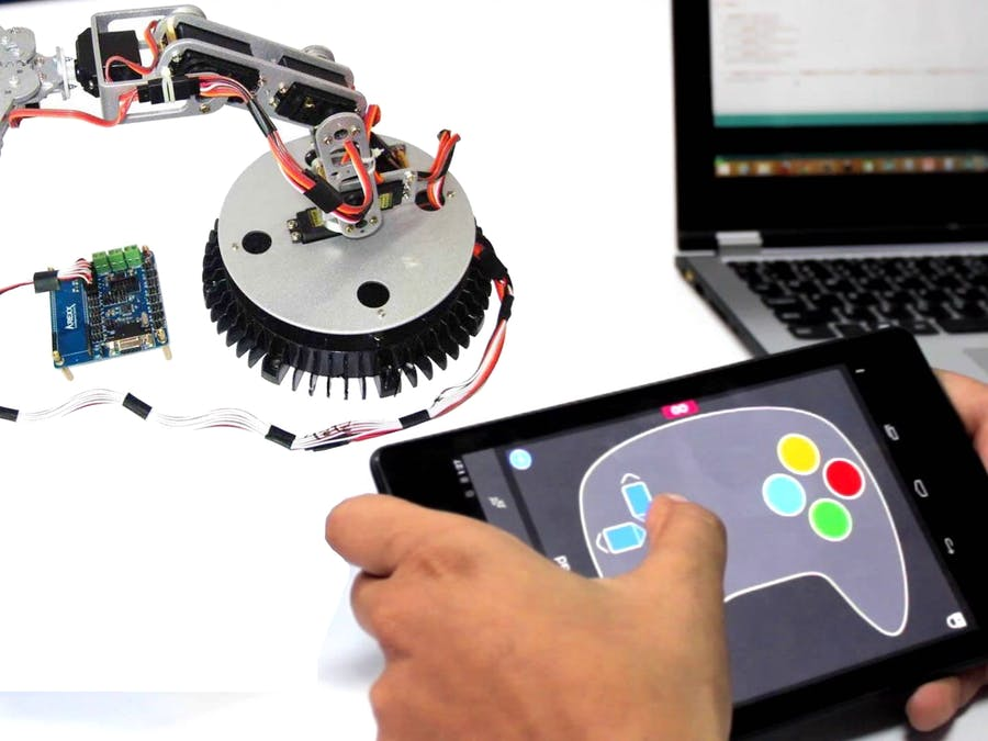 Android Controlled 6DoF Robotic Arm - Arduino Project Hub