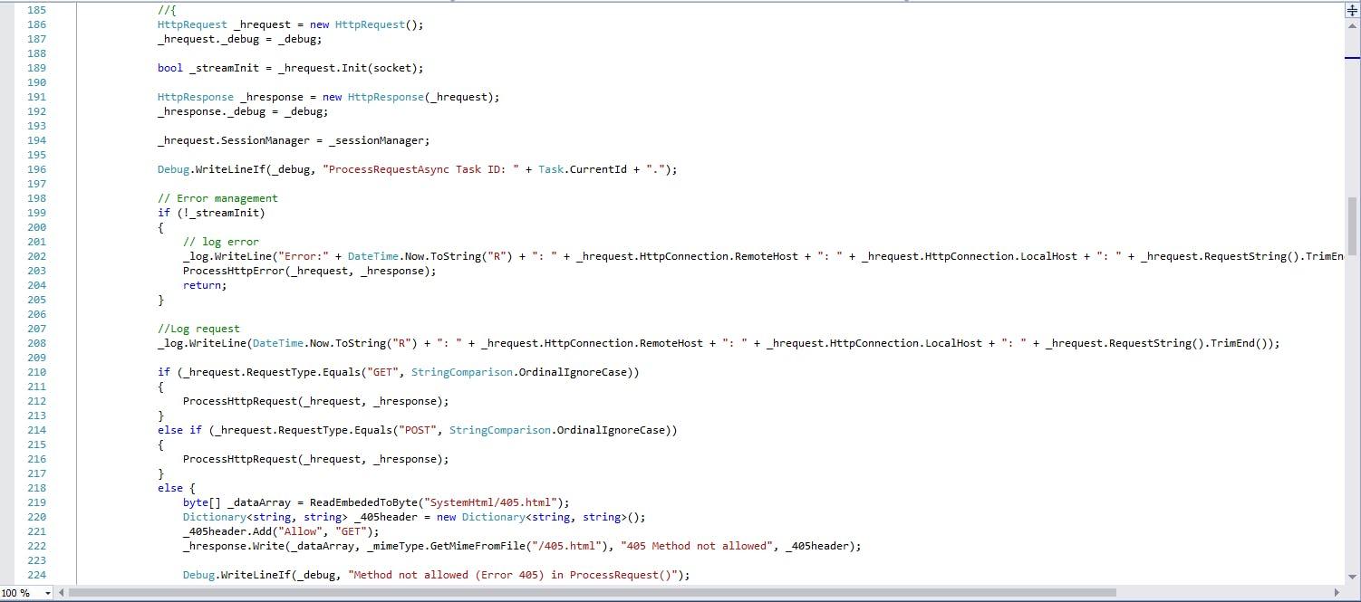 Embedded HTTP Server Library