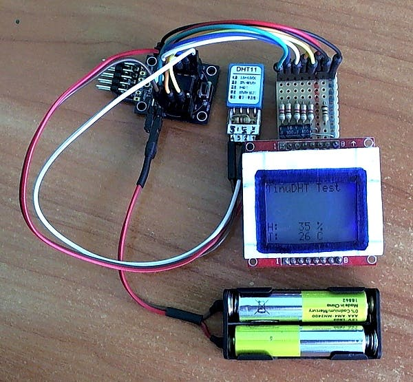 TinuDHT - C Library for DHT11 Temperature / Humidity Sensor