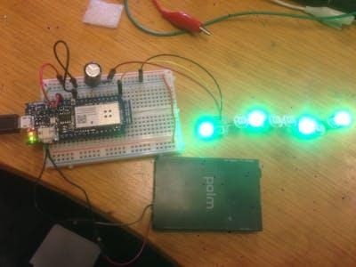 Arduino MKR1000/Zero Neopixel Throwie