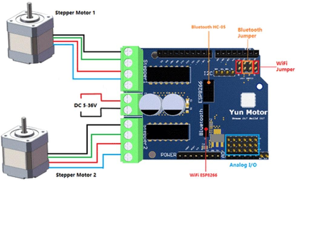 yun motor arduino compatible motor shield in the cloud hackster io rh hackster io