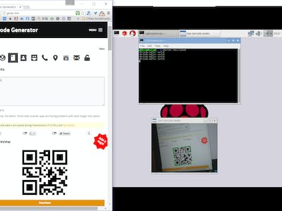 QR Code on Raspberry Pi