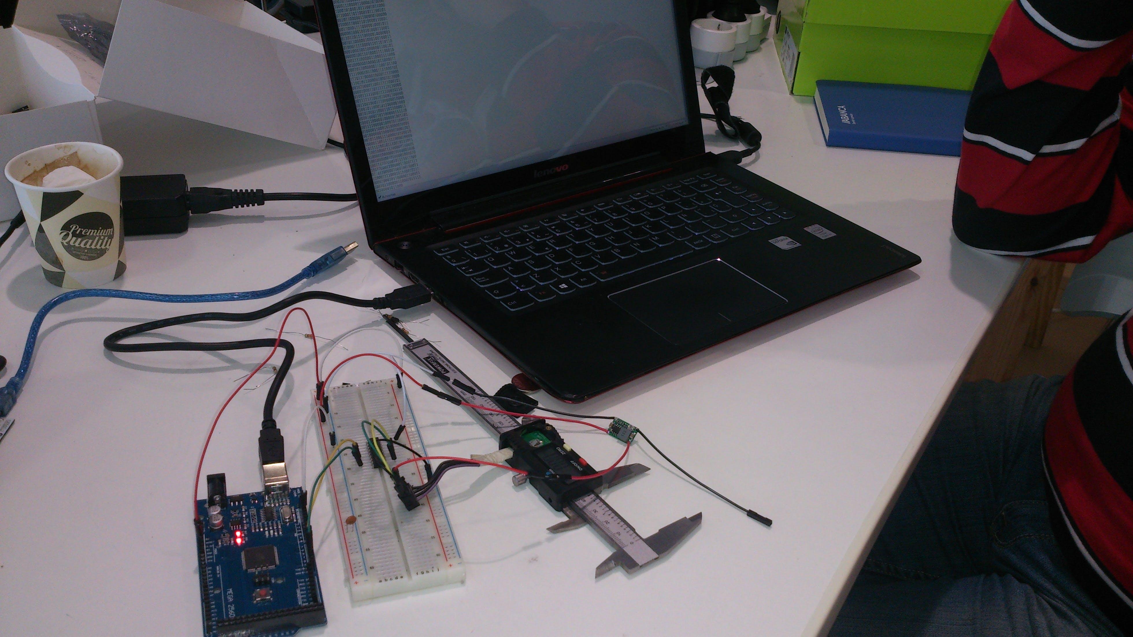 Digital ictiometer based on a accurate calliper