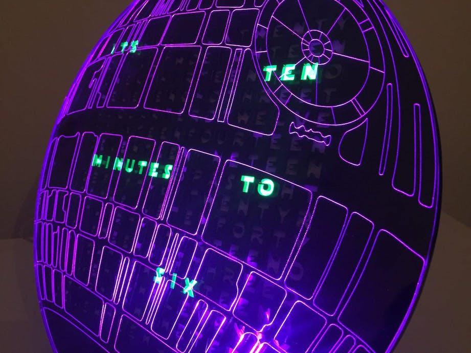 Death Star Word Clock - Hackster io