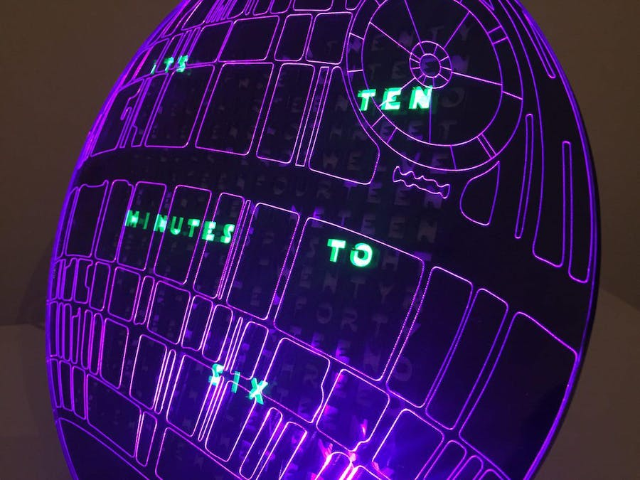 Death Star Word Clock