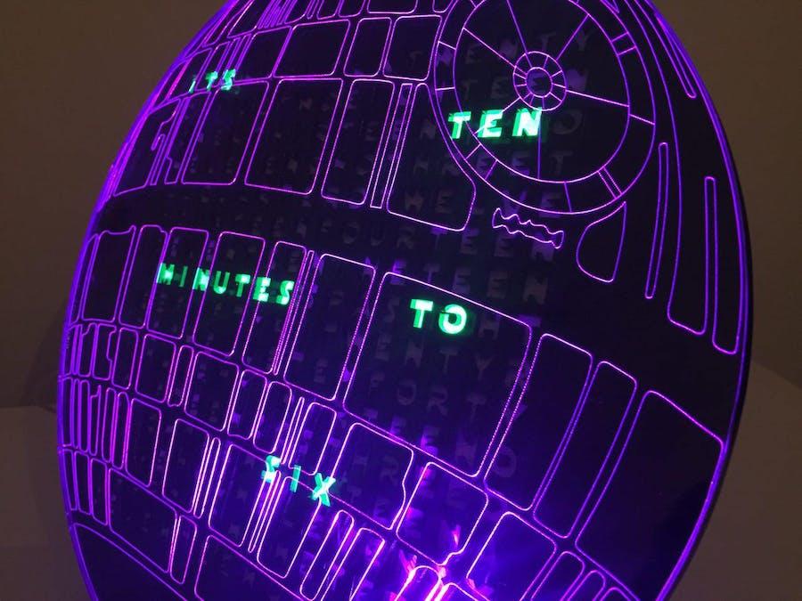 death star word clock hackster io