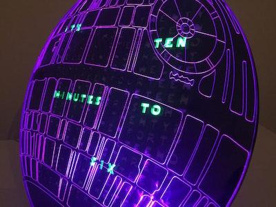 Death Star word clock