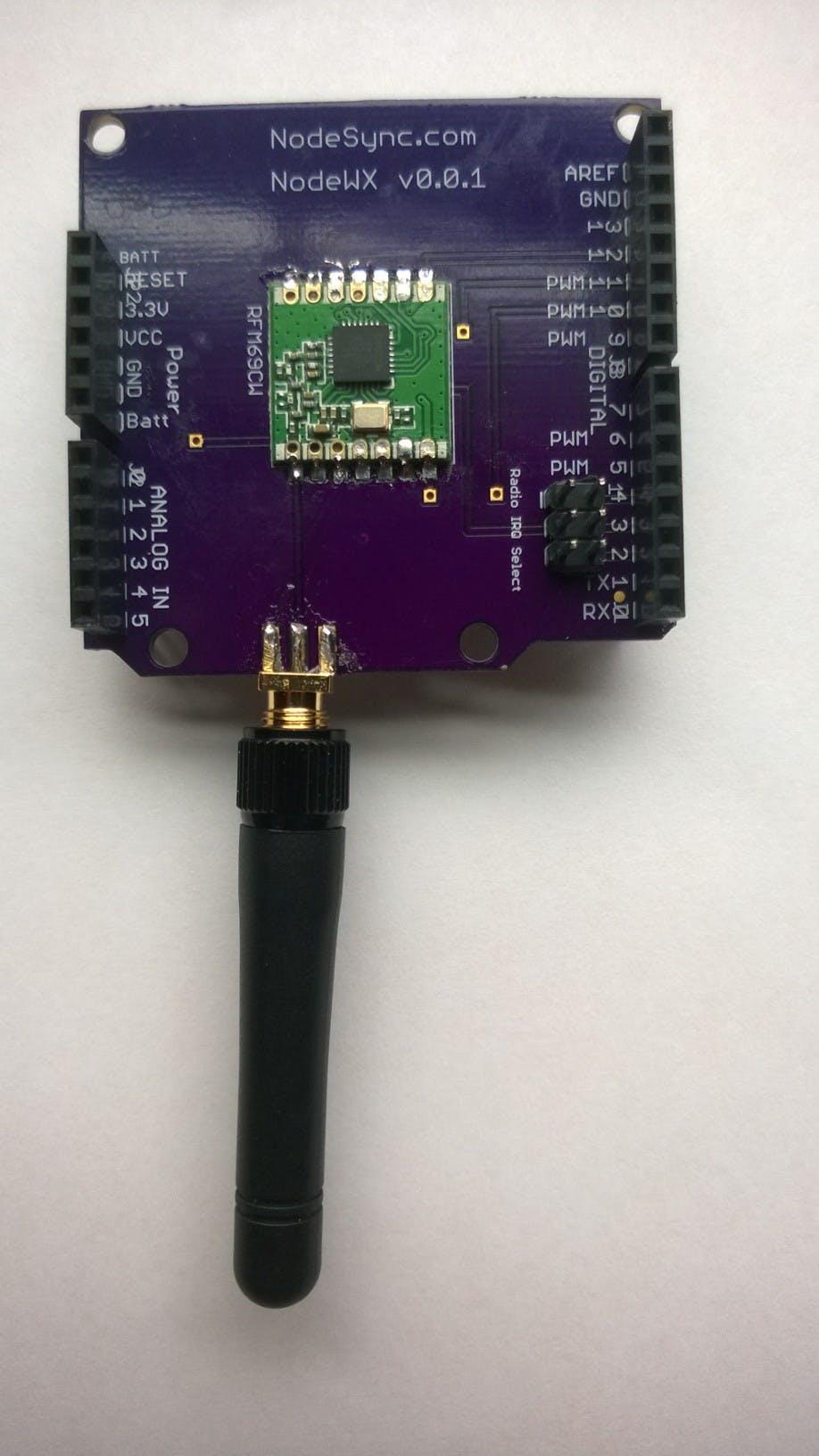 RFM69CW Arduino Shield