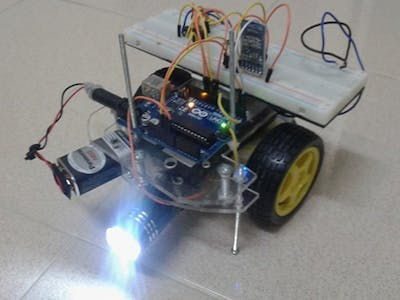 Android controlled robot car
