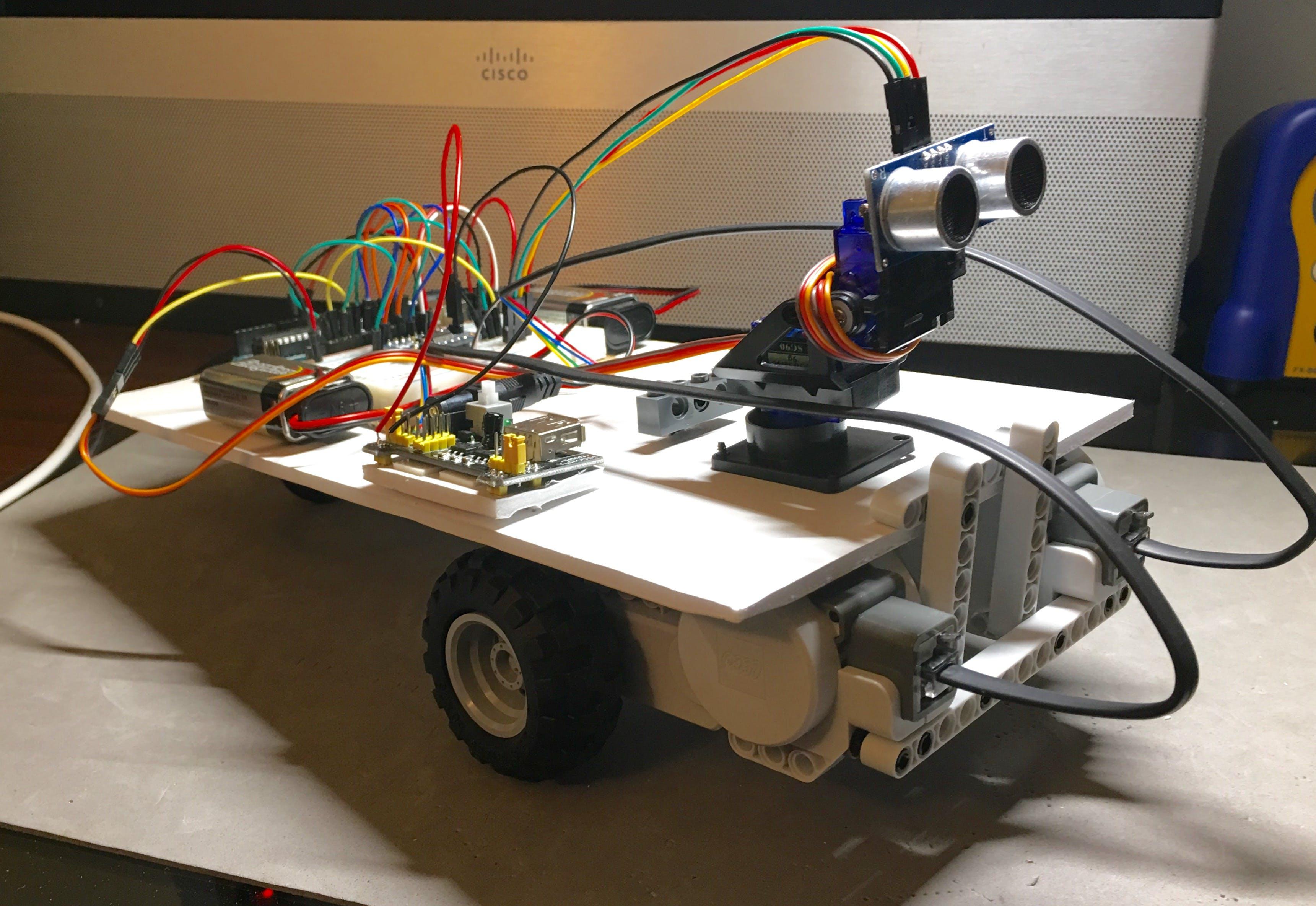 Autobot Using Lego NXT Motors and Sensor