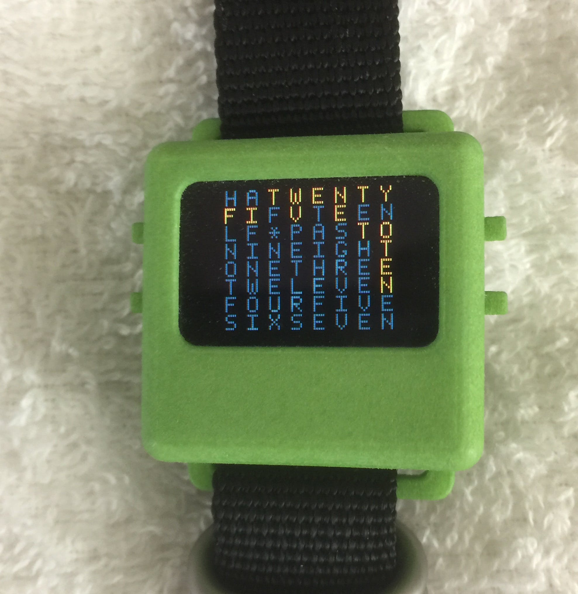 Word Clock on the O-Watch