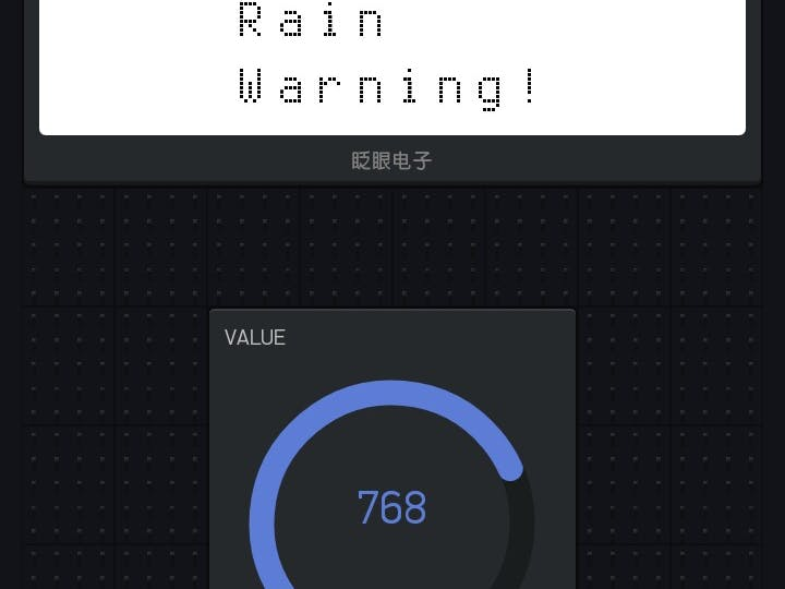 Rain Warning Display on Mobile for your Home Garden