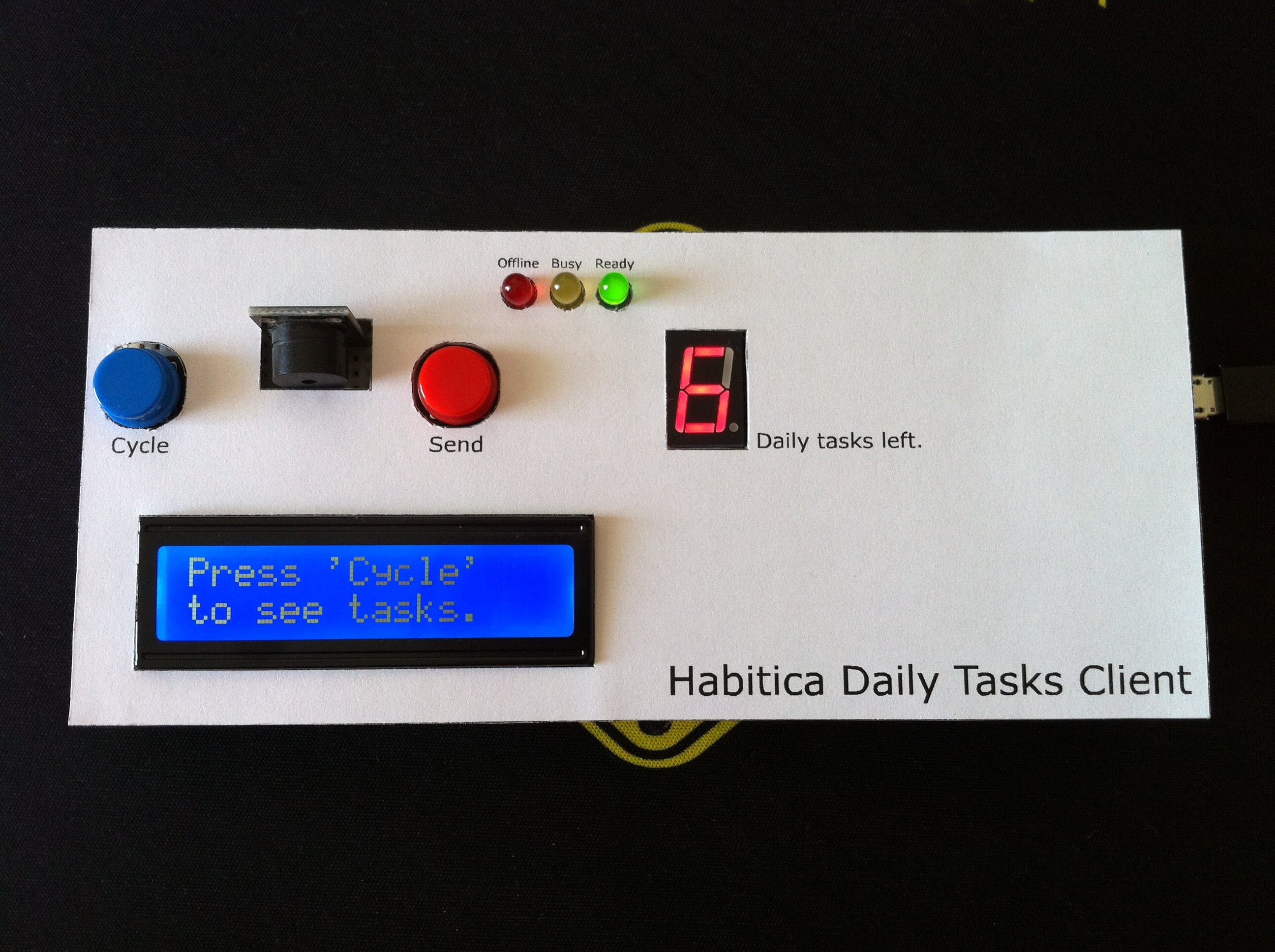 Arduino Habitica Daily Tasks Client