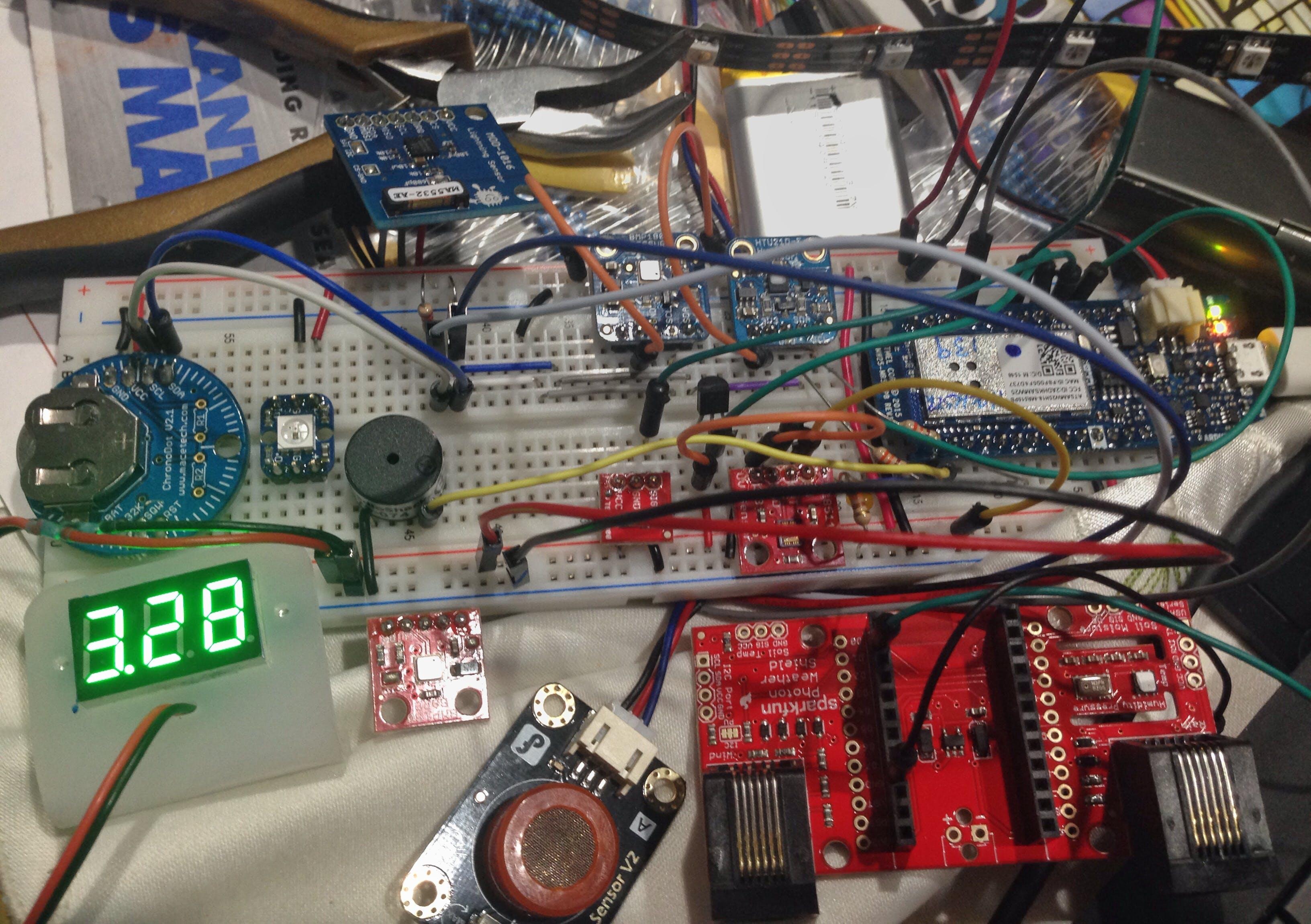 Multiple mode Environmental Sensor Deck with MKR1000