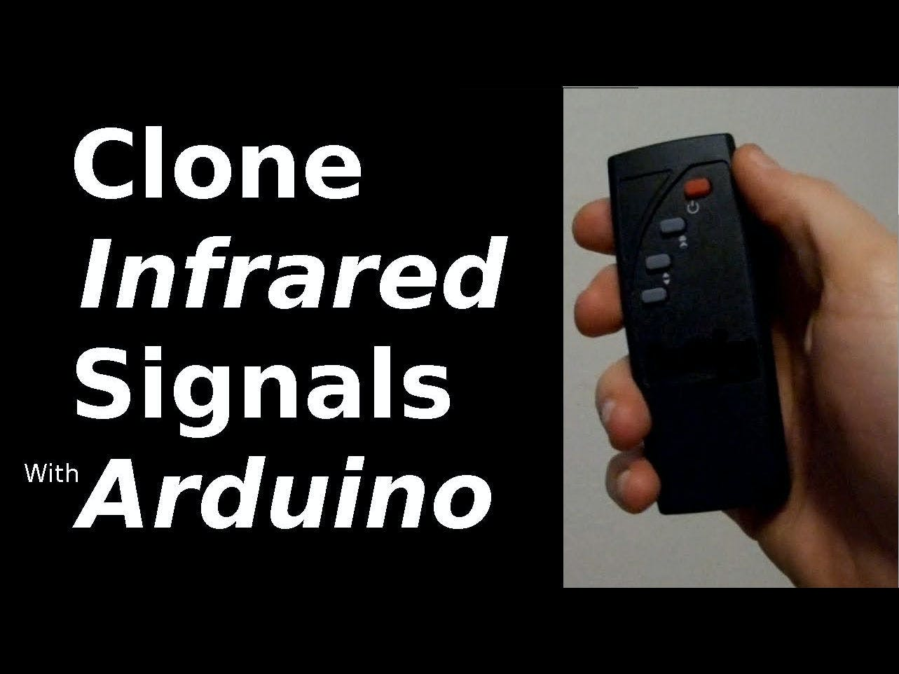 Clone Infrared Signals with Arduino