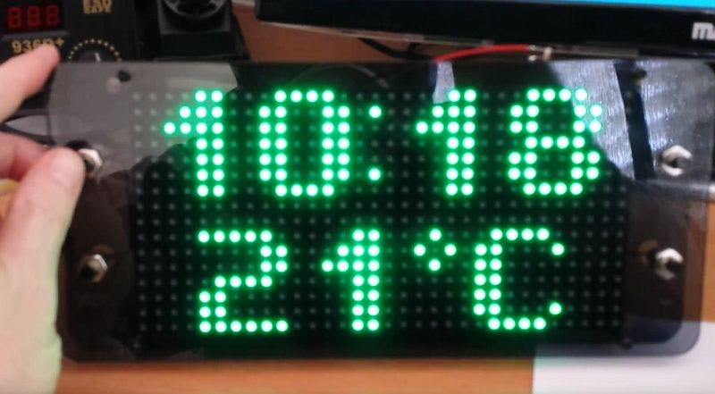 Arduino Based Clock Using 16x32 Rgb Led Matrix Hackster Io