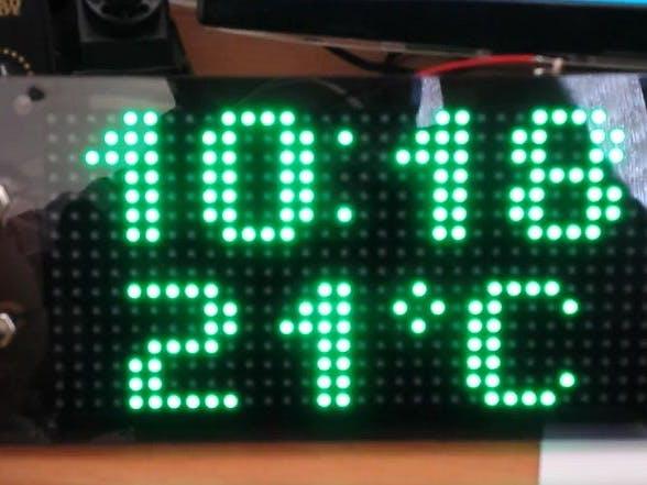 Arduino based clock using rgb led matrix hackster