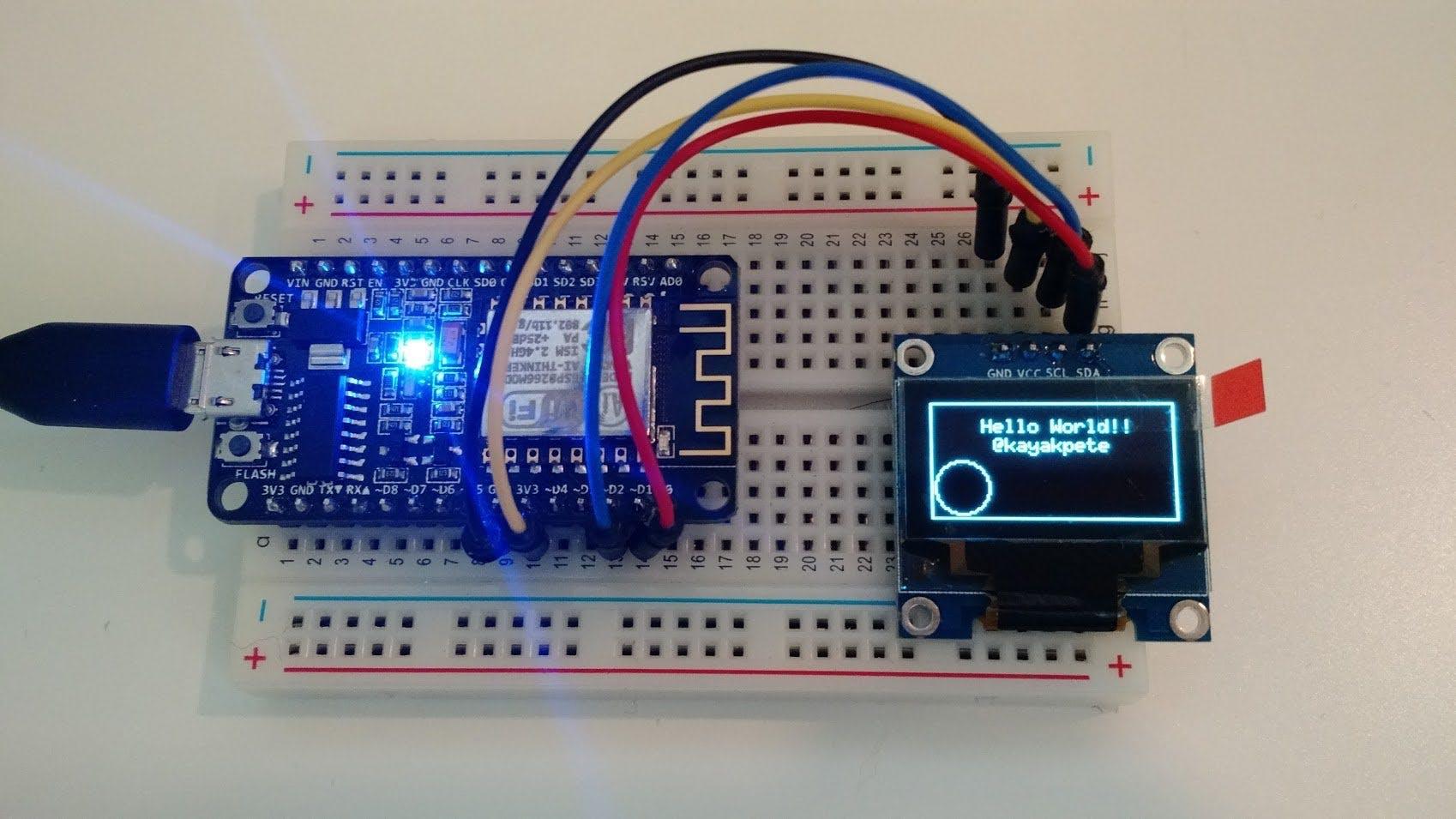 ESP8266 + OLED Display