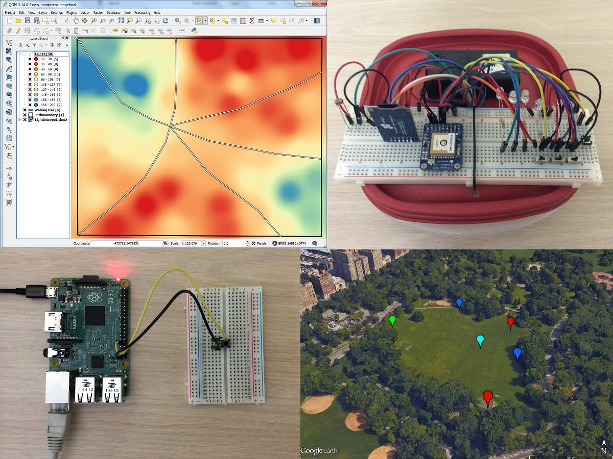 GPS Datalogger, Spatial Analysis, and Azure IoT Hub.