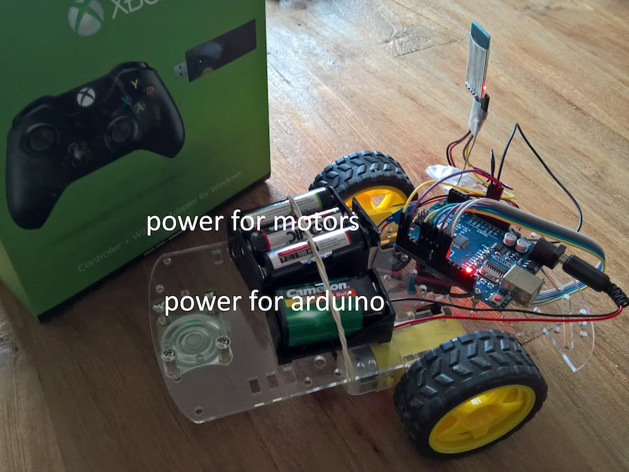 Control arduino rover using firmata and xbox one