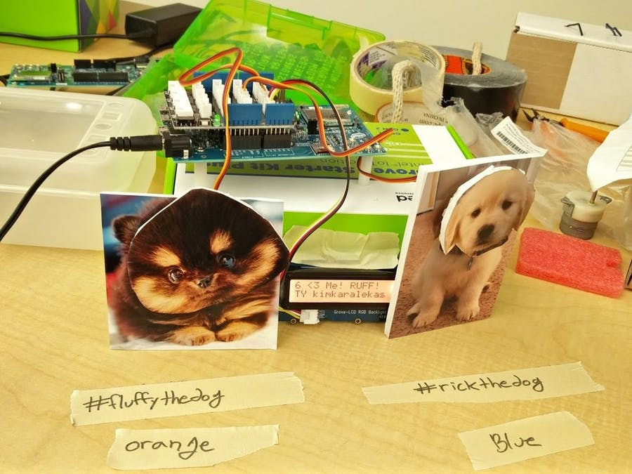 Intel Edison, Twitter API, and Cute Dogs
