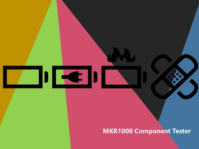 MKR1000 Integrated Component Tester