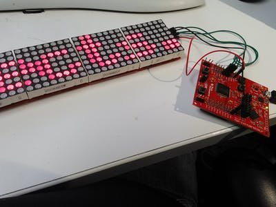 Red LED Matrix Control with TI LaunchPad