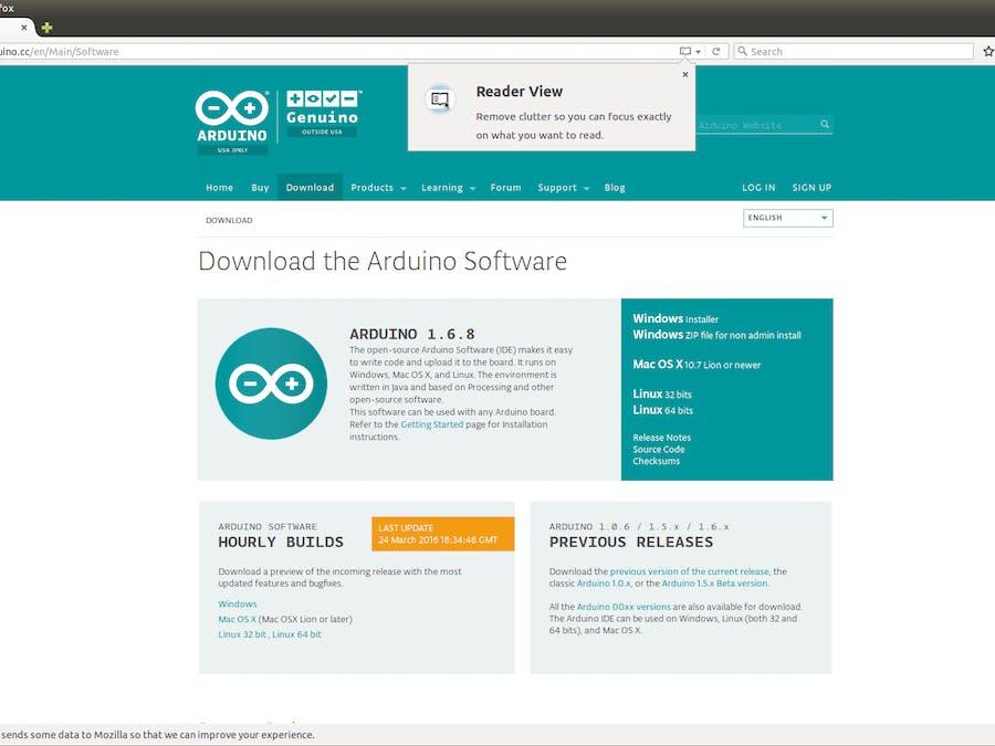 Come installare Arduino 1.6.9 su Ubuntu 15.10