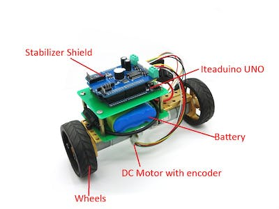 Making a Mini Self-Balancing Car Only Two Steps