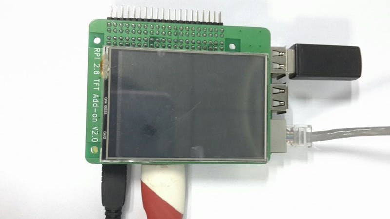 Raspberry PI B+ 2.8 TFT Add-on V2.0 Touch Function Realizing