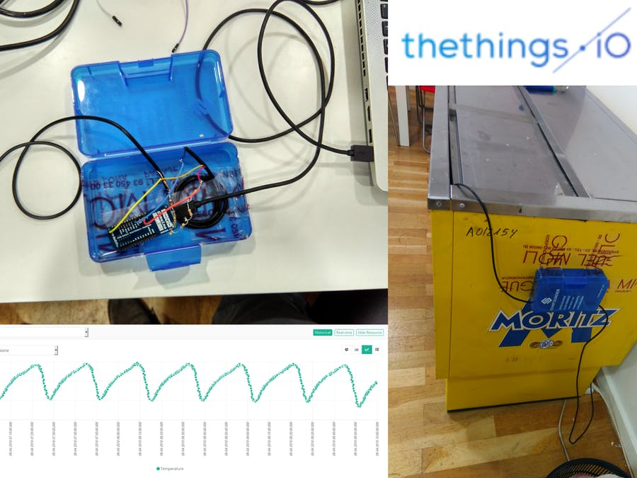 Monitor fridge with Arduino MKR1000 and thethings.iO