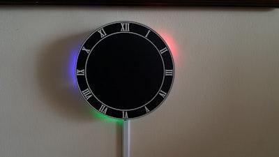 LED Reflection Clock