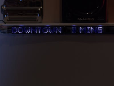 LED Transit Clock