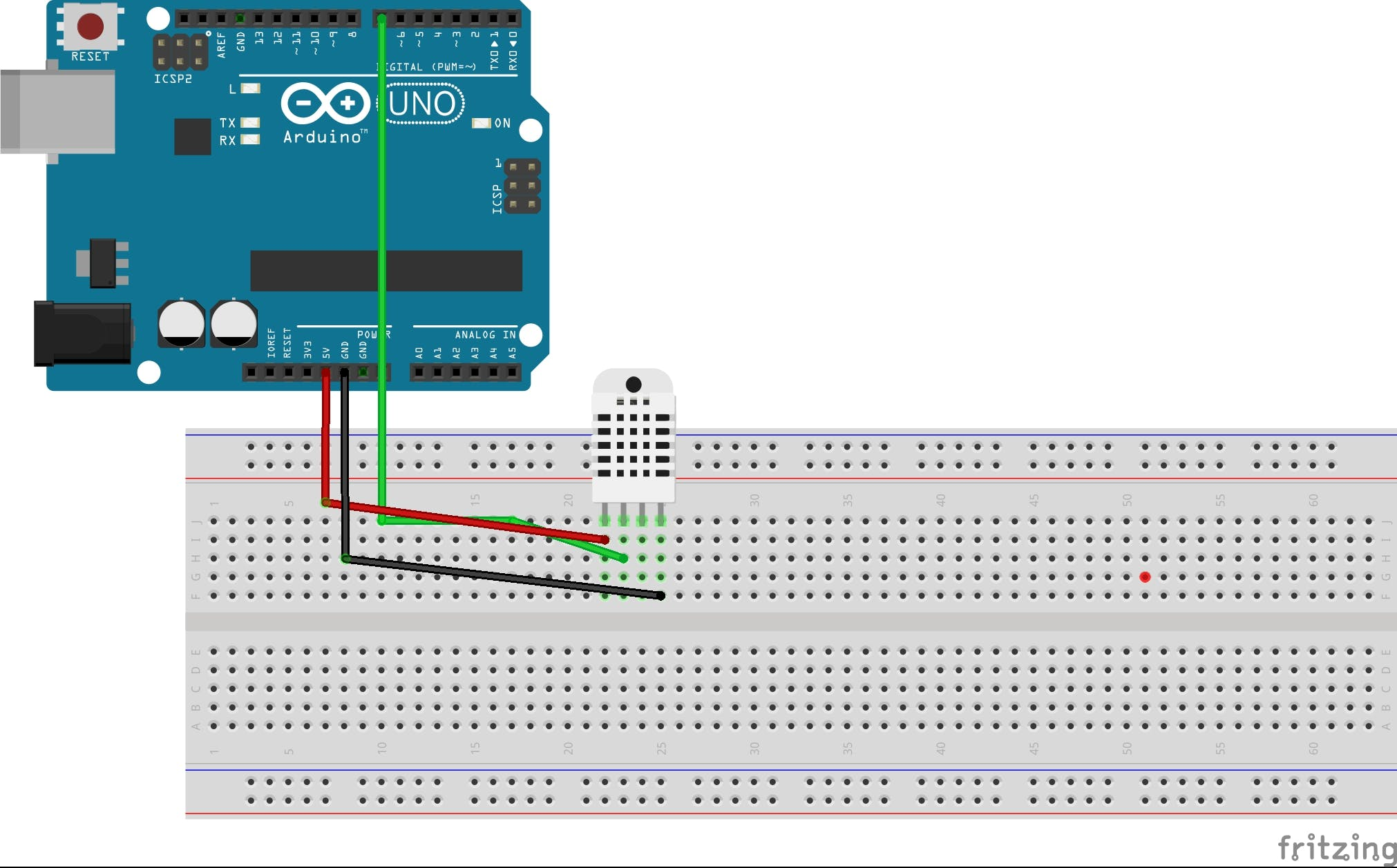 Temperature Monitoring With DHT22 & Arduino